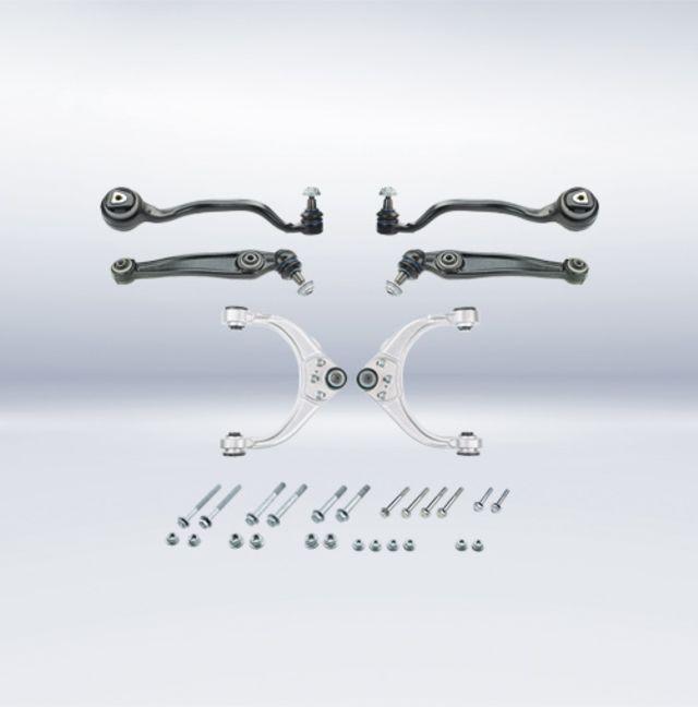 """Neuer MEYLE-HD-Reparatursatz inklusive """"3-in-1-Lenker"""" für BMW-Vorderachse der Serien X5 und X6 ab Baujahr 2007"""