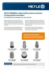 MEYLE-ORIGINAL rubber buffers ensure maximum driving comfort and safety