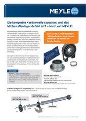 Mittelwellenlager-Reparatursatz passend für VW Touareg und Porsche Cayenne