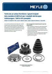i giunti tripodi lato cambio di MEYLE per i modelli del Gruppo Volkswagen/GM in kit completi