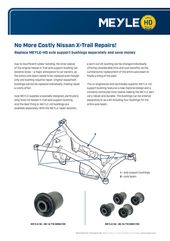 Replace MEYLE-HD axle support bushings separately and save money