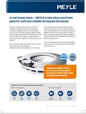 A real dream team – MEYLE brake discs and brake pads for safe and reliable driving performance!