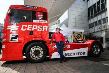 Antonio Albacete, le pilote de course de camions, sera sur le salon Automechanika avec des systèmes de frein MEYLE