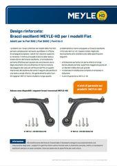 Bracci oscillanti MEYLE-HD per i modelli Fiat
