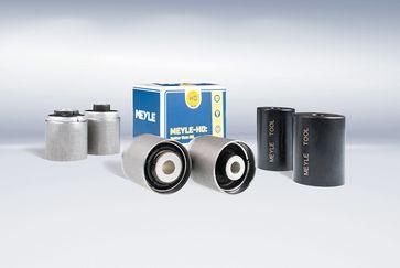 Zrównoważone rozwiązanie naprawcze dla rynku wtórnego: tuleje metalowo-gumowe MEYLE-HD do wahacza poprzecznego BMW