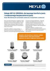 Odboje MEYLE-ORIGINAL dla lepszego komfortu jazdy i zwiększonego bezpieczeństwa jazdy