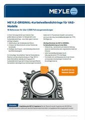 MEYLE-ORIGINAL-Kurbelwellendichtringe für VAGModelle
