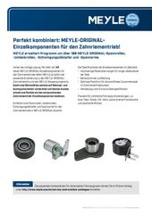 MEYLE-ORIGINAL individual components for the timing drive!