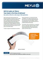 MEYLE cabin air filters