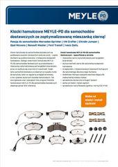 Klocki hamulcowe MEYLE-PD dla samochodów dostawczych
