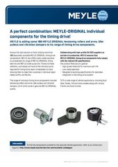 A perfect combination: MEYLE-ORIGINAL individual components for the timing drive!