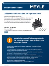 Assembly instructions for ignition coils