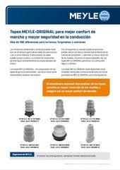 Topes MEYLE-ORIGINAL para mejor confort de marcha y mayor seguridad en la conducción