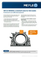 MEYLE-ORIGINAL crankshaft seals for VAG models