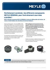 Parfaitement combinés : les différents composants MEYLE-ORIGINAL pour l'entraînement courroies crantées !