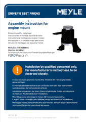 Assembly instruction for engine mount