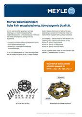 MEYLE-Gelenkscheiben: hohe Fahrzeugabdeckung, überzeugende Qualität.