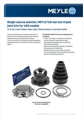 MEYLE full-service tripod joint kits for VAG models