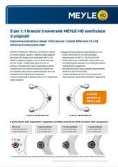 1 braccio trasversale MEYLE-HD sostituisce 3 originali!