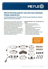 MEYLE-PD brake pads for vans