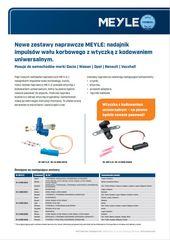 Nowe zestawy naprawcze MEYLE: nadajnik impulsów wału korbowego z wtyczką z kodowaniem uniwersalnym.