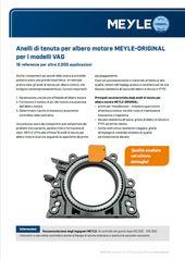Anelli di tenuta per albero motore MEYLE-ORIGINAL per i modelli VAG