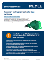 Assembly instruction for brake light switches