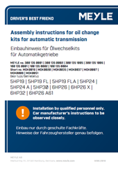 Assembly instructions for oil change kits for automatic transmission
