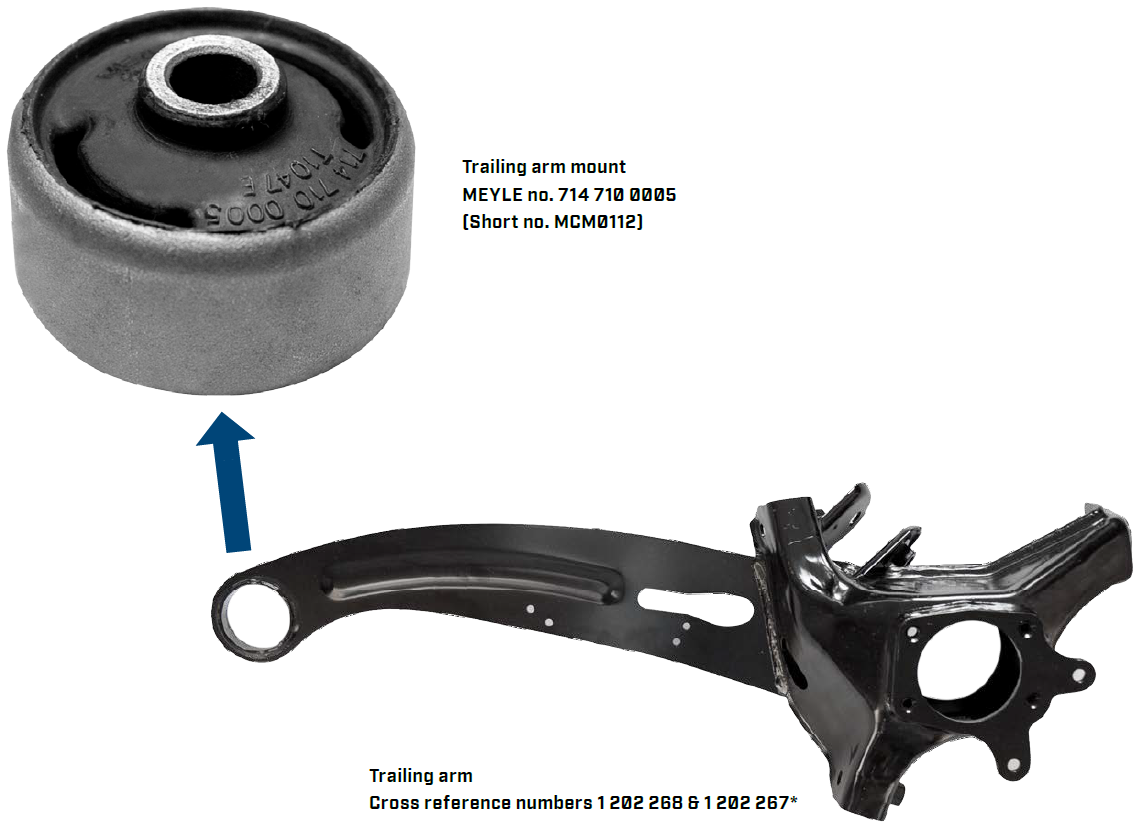 Rubber Mounts for Rear Trailing Arm