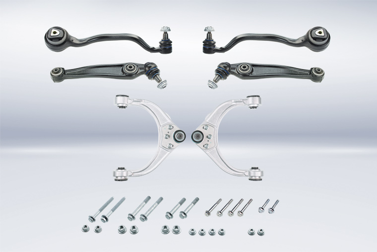 New MEYLE-HD repair kit with 3-in-1 control arm for the front axle repair on BMW X5 and X6 Series models built from 2007 onwards