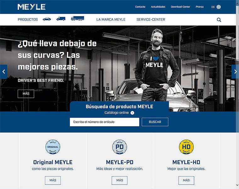 Nuevo sitio de MEYLE completa el relanzamiento de la marca