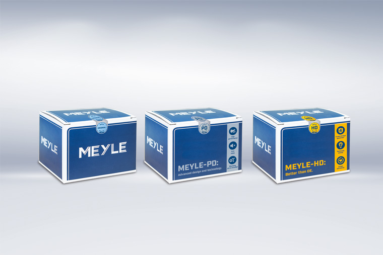 Revamped MEYLE product packaging