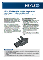 MEYLE-ORIGINAL differential pressure sensor prevents costly subsequent damage!