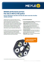Reliable performance partner: Flex disc in MEYLE-HD quality!