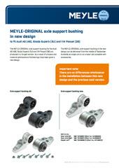 Новые модели сайлентблоков MEYLE-ORIGINAL для заднего моста