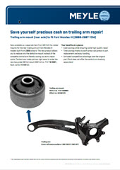 Save yourself precious cash on trailing arm repair!