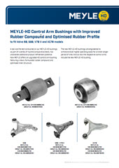MEYLE-HD Control Arm Bushings with Improved Rubber Compound and Optimised Rubber Profile
