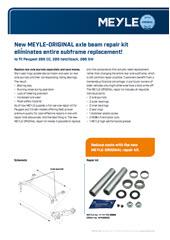 Neuer MEYLE-ORIGINAL-Reparatursatz für Achskörper – kompletter Austausch nicht mehr nötig!