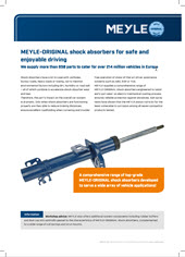 MEYLE-ORIGINAL shock absorbers for safe and enjoyable driving
