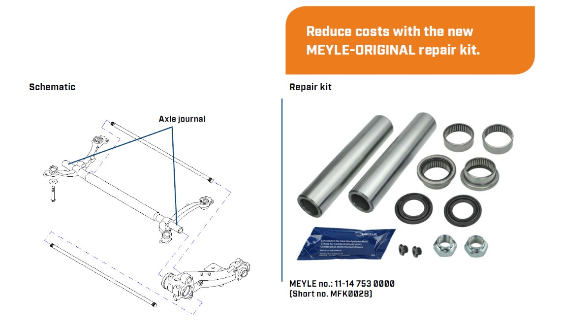 axle beam repair kit