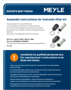 Assembly instructions for hydraulic filter kit
