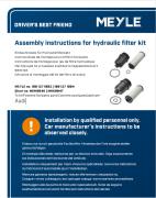 Einbauhinweis für Hydraulikfiltersatz