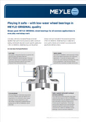 Playing it safe – with low-wear wheel bearings in